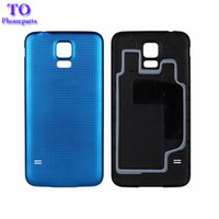 Wholesale Battery Case Cover - 100pcs Rear Battery Housing Door Back Cover Case for Samsung Galaxy S5 G900 G900A G900H G900F Free Shipping
