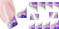 Bittb Water Transfer Nail Stickers Decorazione Arte Manicure Bellezza Sticker Colorato Foglia Sticker Decalcomanie Nail Makeup Strumenti