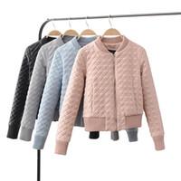 Wholesale Baseball Jacket Lined - New 2017 Winter line cotton-padded leather jacket women short design slim thicken leather jacket baseball leather clothing