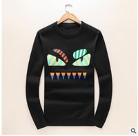 Wholesale Autumn Cashmere Small - Hot sale Autumn and winter new long-sleeved cashmere sweater sweater men's round neck sets of small monster printing sweater