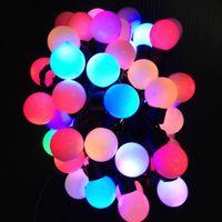 ingrosso luce della sfera stringa rgb-Christmas 50 LED 16.4ft RGB Ball Lights Cambia colore Novità Novità Fata String Light per decorazioni per feste Christmas tree small Ball