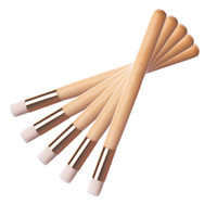 Wholesale flat top brushes - Blackhead Nose Cleaning Brush Wooden Washing Makeup Brush Beauty Brushes Skin Care Tools Cleaning Accessories Nasal shadow Flat top Brush