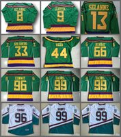f35acc9c7 The Mighty Ducks Of Anaheim Men Movie Jersey 33 Greg Goldberg 44 Fulton  Reed 66 Gordon Bombay 96 Charlie Conway 99 Adam Banks Hockey Jersey ...