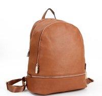 Wholesale Luxury School Bags - 2016 new John famous brands luxury M Women & men bags backpack zipper designer school bag leather purse ladies travel bag n1