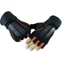 Wholesale Active Building - Breathable Microfiber Gym Body Building Training Fitness Half finger Gloves Men Women Exercise Tactical Gloves