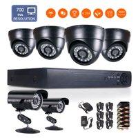 "Wholesale 8ch D1 Video - 1 4"" CMOS 960P 8CH DVR Full D1 H.264 Surveillance HDMI DVR Network 6PCS CCTV Camera Video DVR Recorder 700TVL remote monitoring"
