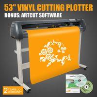 Wholesale Printer Vinyl - 53 Inch VINYL CUTTING PLOTTER CUTTER SIGN ARTCUT SOFTWARE W STAND CONTOUR CUTTING PRINTER STICKER CUT DEVICE MAKER 3D-SHADOW HEAT-TRANSFER