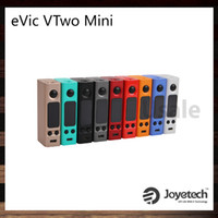 Wholesale Large Clock Wholesale - Joyetech eVic VTwo Mini Mod Updated eVic VTC Mini 75W Mod With Upgradeable Firmware Real Time Clock Large OLED Screen 100% Original