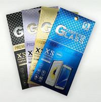 ingrosso sacchetti di stampa a schermo-Confezione UV Confezione Confezione Confezione Confezione di protezione in vetro temperato per iPhone XR XS Max 8 Plus Stampa personalizzata Samsung Galaxy S7