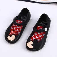 Wholesale Children Jelly Sandals Wholesale - Melissa style shoes 4color Mickey Minnie kids toddler 13-17cm inside size baby little girls crystal jelly shoes children beach Sandals