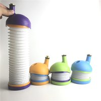 Wholesale Glasses Caterpillar - New Silicone Bong Smoking Pipe Silicone Smoke Nectar Collector with Caterpillar Style 6.5 to 24.5 Inch as Tobacco Glass Pipes