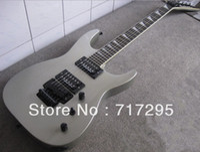 Wholesale Guitars Custom 24 - Custom 24 Jack Son JS-20 One Pcs Neck &Body Metallic Silver Electric Guitar Triangle MOP Fingerboard Inlay Floyd Rose Tremolo Black Hardware