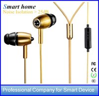 Dispositivi intelligenti per la casa Dispositivi audio auricolari stereo in metallo con microfono MK500 Annullamento rumore in-ear per Iphone 5 6 Samsung HTC Huawei DHL gratis