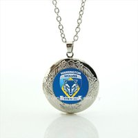 Wholesale Stylish Pendants For Men - Silver plated stylish men jewelry locket necklace Warrington wolves the wire accessory gift for friends or colleague NF010