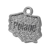 Wholesale Antiques Poland - 50pcs a Lot Zinc Alloy Antique Plated poland map Charms For Bracelets Or Necklaces