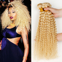 Wholesale afro kinky hair extensions 613 - Irina hair products brazilian curly hair extensions blonde russian hair inch afro kinky curly hair weaves
