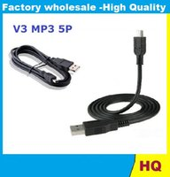 Wholesale Dv Pin - MP3 MP4 MP5 Cable V3 Mini USB A Male To B Mini 5 Pin Sync Cable D171 Usb To 5p FOR DV Mobile Phones 90CM