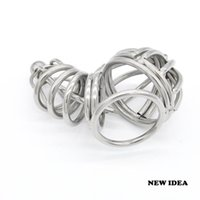 Wholesale Chastity Short Cage Urethral Tube - Stainless steel Male chastity devices Short Cage Urethral Tube Ball Cage New Gay Fetish A071