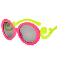 Wholesale wholesale kid sunglasses - Kids Round Sunglasses Boys&girls Sun Glasses Brand Designer 2016 NEW Fashion Children Cloud VintageUV400 12pcs lot Free Shipping