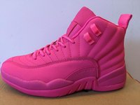 Wholesale Sexy Fabrics - SEXY PINK Hot Retro XII 12 sneaker basketball shoes womens athletic trainer sports free shipping China footwear 12s for women
