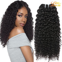 Wholesale Kinky Curly Brazillian Hair - Brazilian Kinky Curly Virgin Human Hair Weaves Bundles Unprocessed Peruvian Malaysian Indian Cambodian Brazillian Curly Hair Extensions
