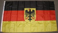 Wholesale German Cities - OLD GERMANY FLAG GERMAN WITH EAGLE BANNER City Country banner flag Custom Football Hockey Baseball any Team House Divided Flag