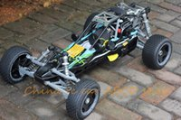 Wholesale Baja Remote Controlled Car - Wholesale-Rc car 1:5 26cc 4 Bolt Engine Baja Walbro 997 Carb ss Tunepipe + 2.4G transmitter remote control free shipping