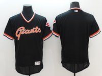 Wholesale Wholesale Jersey Pullover - New Flexbase Baseball Jerseys Giants Throwback Jersey Pullover Black Color Blank No Name No Number Size 40-56 Mix Order All Blank Jersey