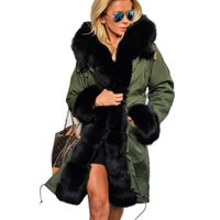 Wholesale Trench Coat Women Basic - Wholesale- Women Basic Coats 2017 New Autumn Winter Casual Hooded Cotton-Padded Warm Long Winter Down Coat Trench Coat Free Shipping
