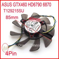 Wholesale Graphics Cards Asus - Wholesale- Free Shipping EVERFLOW T129215SU 12V 0.50A For ASUS GTX460 HD6790 6870 Graphics Card Cooling Fan 4Pin 4Wire