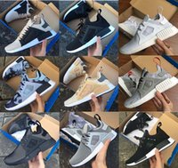 Wholesale Nude Packing - 2017 Cheap NMD XR1 III Running Shoes Mastermind Japan Skull Fall Olive green Glitch Black White Blue Camo Pack men womens sports shoes36-44