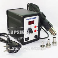 Wholesale Hot Air Desoldering Tool - 220V 240V AC 700W YOUYUE 858D Desoldering welding Tool Hot Air Soldering Station Gun Temperature Adjustable With Nozzles