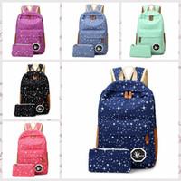 Wholesale Big Backpacks School Girls - 2016 Hot Sale Canvas Women backpack Big Capacity School Bags For Teenagers Printing Backpacks For Girls Mochila Escolar bb-70