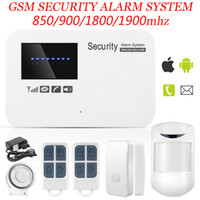 hausverkabelung fernbedienung großhandel-Marlboze IOS Android APP Steuerung Wireless Home Security GSM Alarmanlage Intercom Fernbedienung Autodial verdrahtete Sirene Sensor Kit