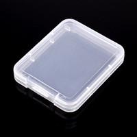 hafıza kartı saklama kutuları toptan satış-Koruma Kılıfı Kart Konteyner Hafıza Kartı Kutuları CF kart Aracı Plastik Şeffaf Depolama Taşıması Kolay ücretsiz kargo
