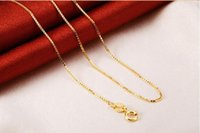 Wholesale Wholesale 24k Gold China - Box chain (10pcs lot) Plated 24K Gold fashion Necklaces for Women Length 40cm+4cm Safety without stimulation not fade Shining Necklaces
