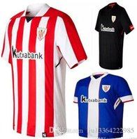 Soccer Men Short Athletic Club Bilbao Home Soccer Jersey 17 18 Athletic  short sleeve soccer shirt ee2f0cf4b0b23