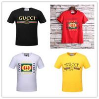 Wholesale Plus Size Shirts Slim - New Arrival 2017 MenT-Shirt graffiti lightning Print Short Sleeve G T Shirts Men Slim Plus Size M-XXL T-Shirt