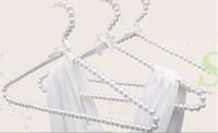 Wholesale Cloths Hanger Clips - 5pcs lot 20cm 30cm 40cm Children Plastic Pearl Hanger Baby Hangers For Clothes Kids Plastic Cloth Hanger Child Clothes Rack