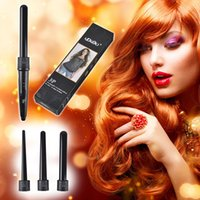 Curling Wand Interchangeable 3 en 1 Curling Fer Tourmaline Céramique Paquet Hair Curler Set Outils de coiffure 0604060