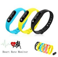 Wholesale Led Screen Wristband - New Heart Rate Monitor Sensor C6 Wristband Smart Bracelet Bluetooth Step Counter Oled Screen Para Led pk xiaomi mi band 1s 1a 2 DHL 10pcs