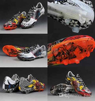 Wholesale Love Tattoos - 2016 Mens Soccer Shoes Boots F50 Adizero tattoo love hate Cleats Laser 100% original Womens Shoes Soccer Shoes Football Shoes