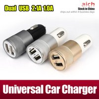 Caricatore universale dell'automobile del caricatore dell'automobile del caricatore dell'automobile del doppio del USB 2.1A 1A per iPad mini 3 4 iPhone 7 più 6s Plus Samsung S7 S5 S6 HTC LG
