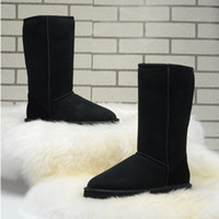 Wholesale Womens Navy Blue Boots - ALL model in stock hot sell 2018 Free shipping High Quality WGG Women's Classic tall Boots Womens boots Boot Snow Winter boots leather boot