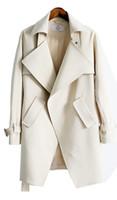 Wholesale Western Winter Coats Women - 2016 Autumn and Winter New Style of Korean and Western Women's Long Coat Look Thinner Coat Free Shopping