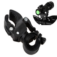 Wholesale Rotation Torch Clip - 120g Bike Flashlight LED Torch Mount Clip 360 Degree Rotation Cycling Clip Clamp Bicycle Light Holder
