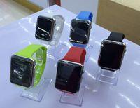 akıllı telefon için ücretsiz gps toptan satış-Bluetooth Akıllı İzle A1 Bilek İzle Erkekler Spor Iwatch stil IOS Apple Android Samsung smartphone için DHL ücretsiz izle