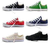 düşük fiyatlı yüksek spor ayakkabı toptan satış-Fabrika fiyat promosyon fiyat! Femininas kanvas ayakkabılar kadınlar ve erkekler, yüksek / Düşük Stil Klasik Kanvas Ayakkabılar Sneakers Kanvas Ayakkabı