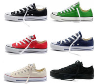 styles de chaussures pour hommes achat en gros de-Femininas chaussures de toile femmes et hommes, chaussures de toile de style classique / haut / bas Sneakers toile chaussures