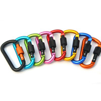 Wholesale More Shapes - 8colour Naturehike Outdoor Camping Climbing Carabiner D Shape Mountaineering Buckle Fast Hang Mini Buckle Hook Aluminum The more thick